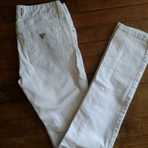GUESS White Skinny Jeans Sarah Fit Sz 27